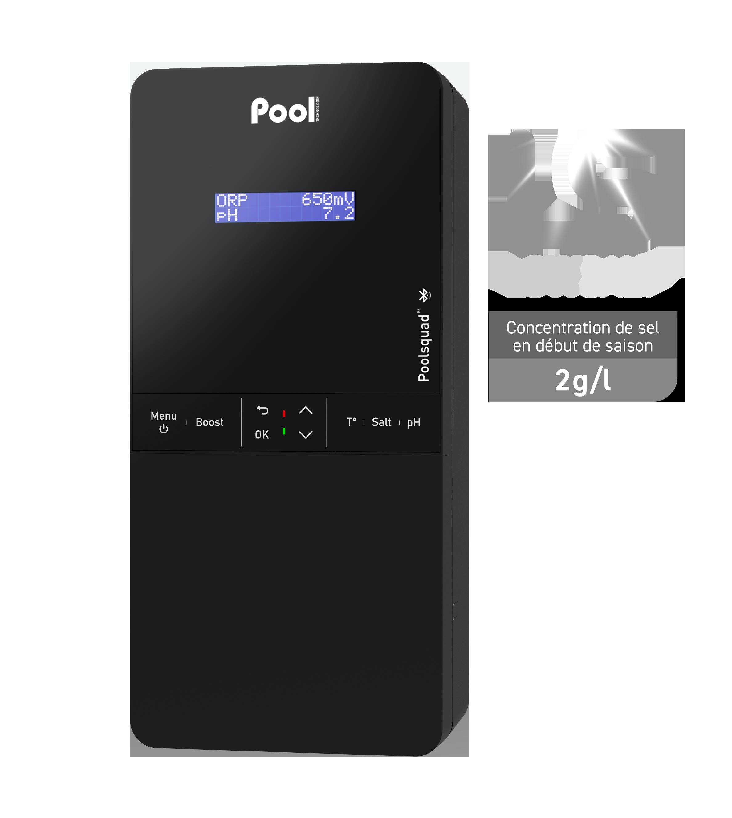 Poolsquad Pro Low Salt régulateur pH électrolyseur de sel contrôle ORP