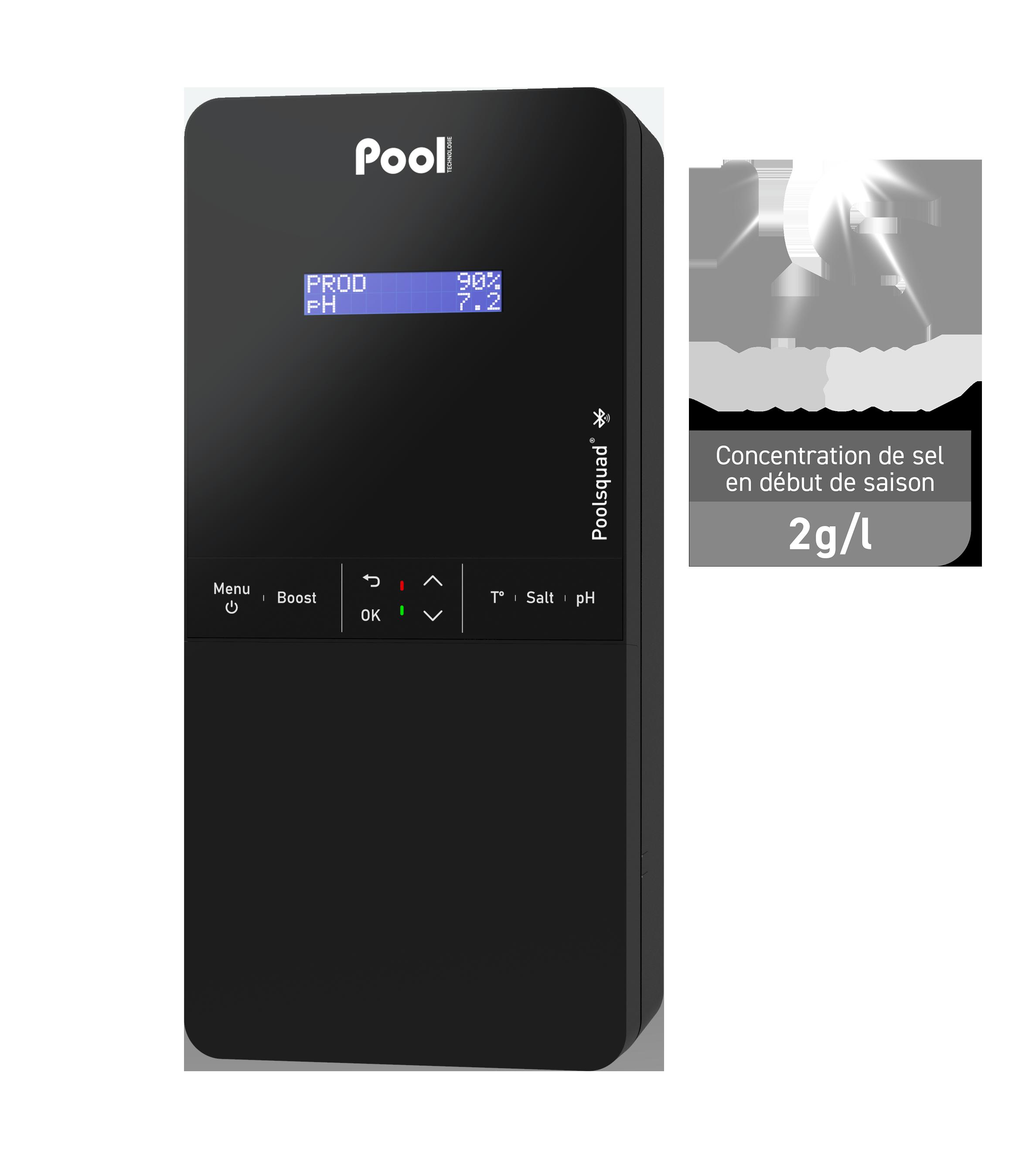 Poolsquad Low Salt électrolyseur de sel régulateur pH