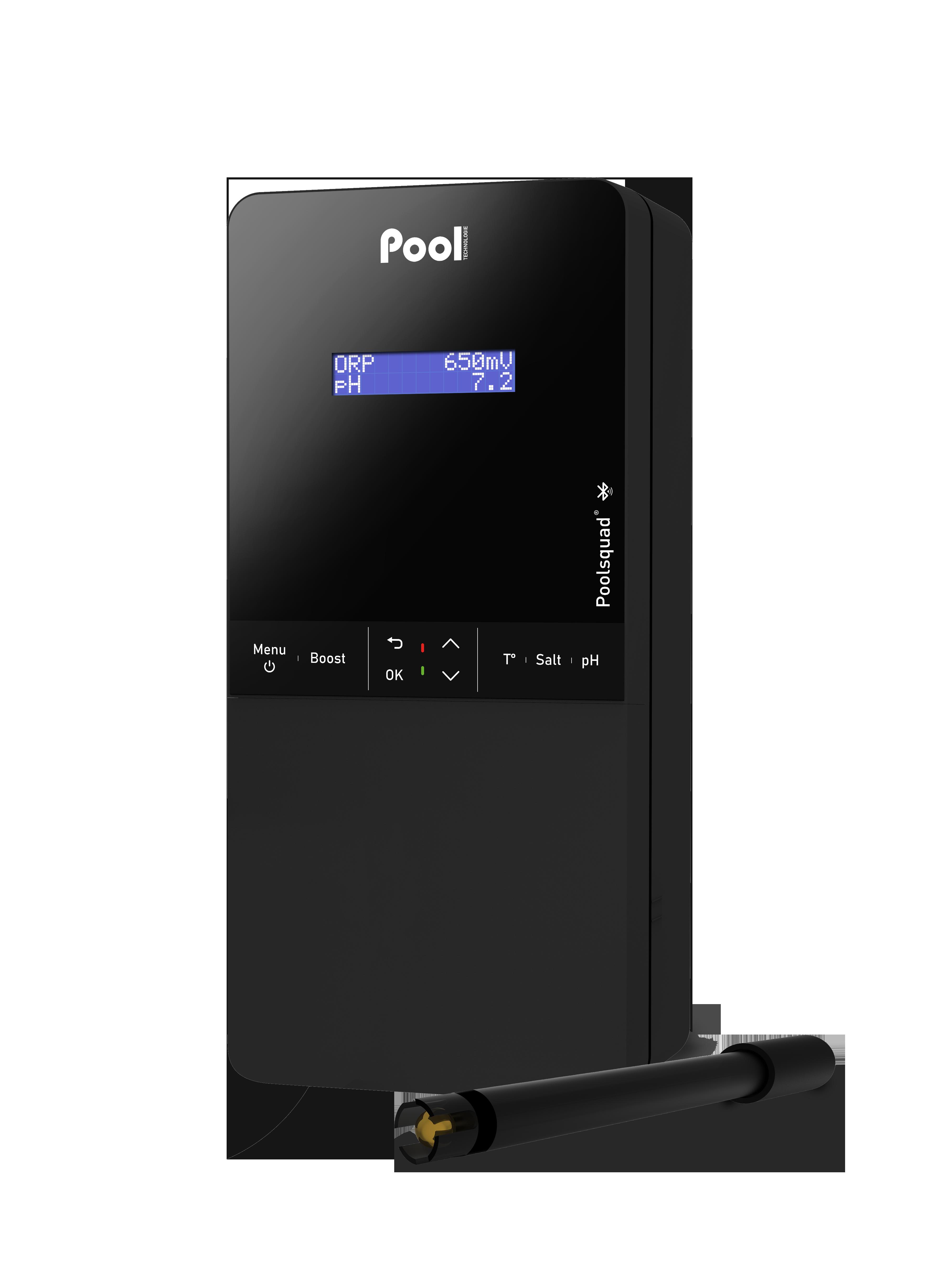Poolsquad Pro sonde ORP régulation pH contrôle ORP électrolyseur de sel