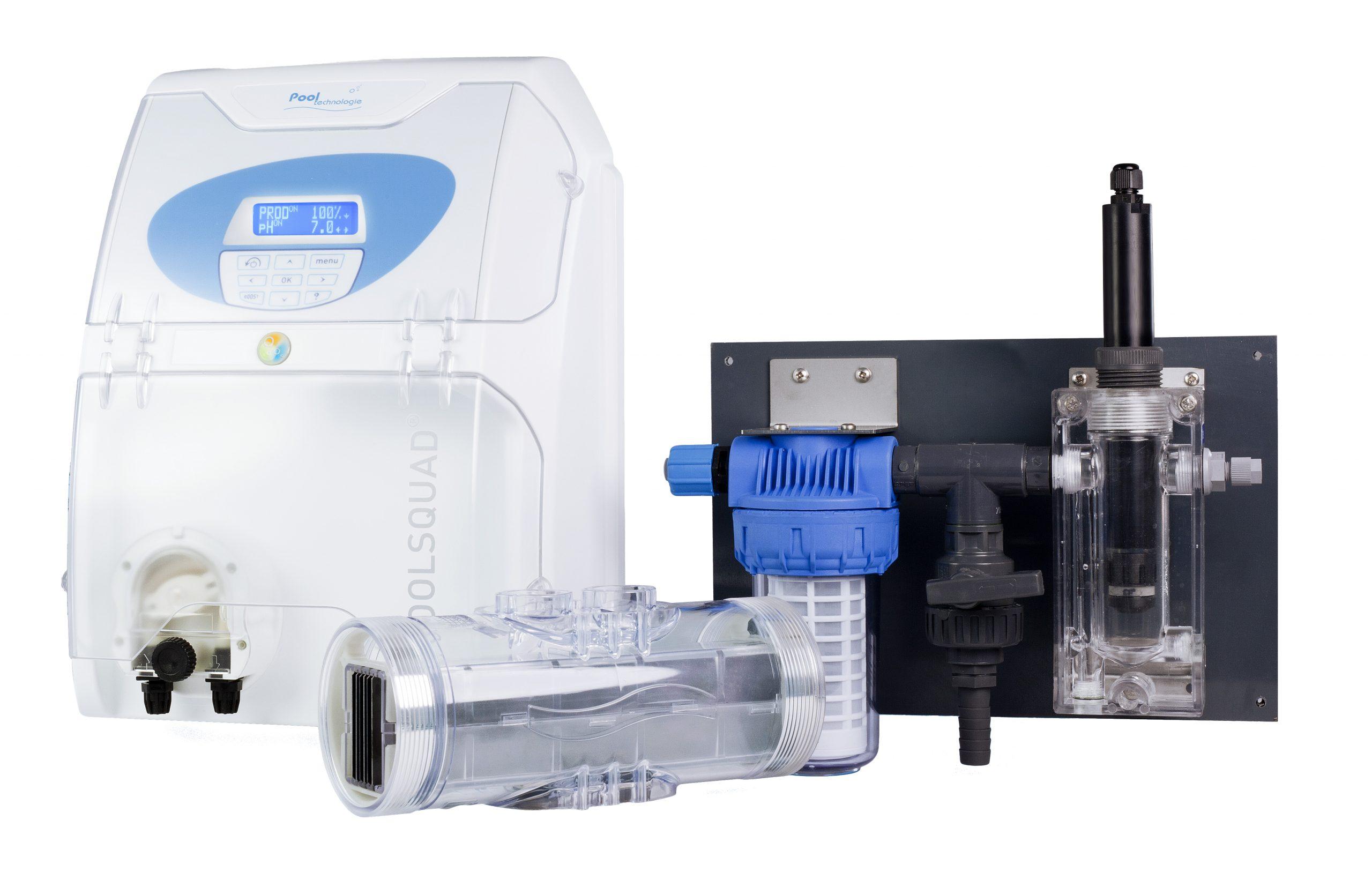 poolsquad ampéro cellule d'électrolyse sonde pH régulation pH électrolyse au sel régulation ampérométrique