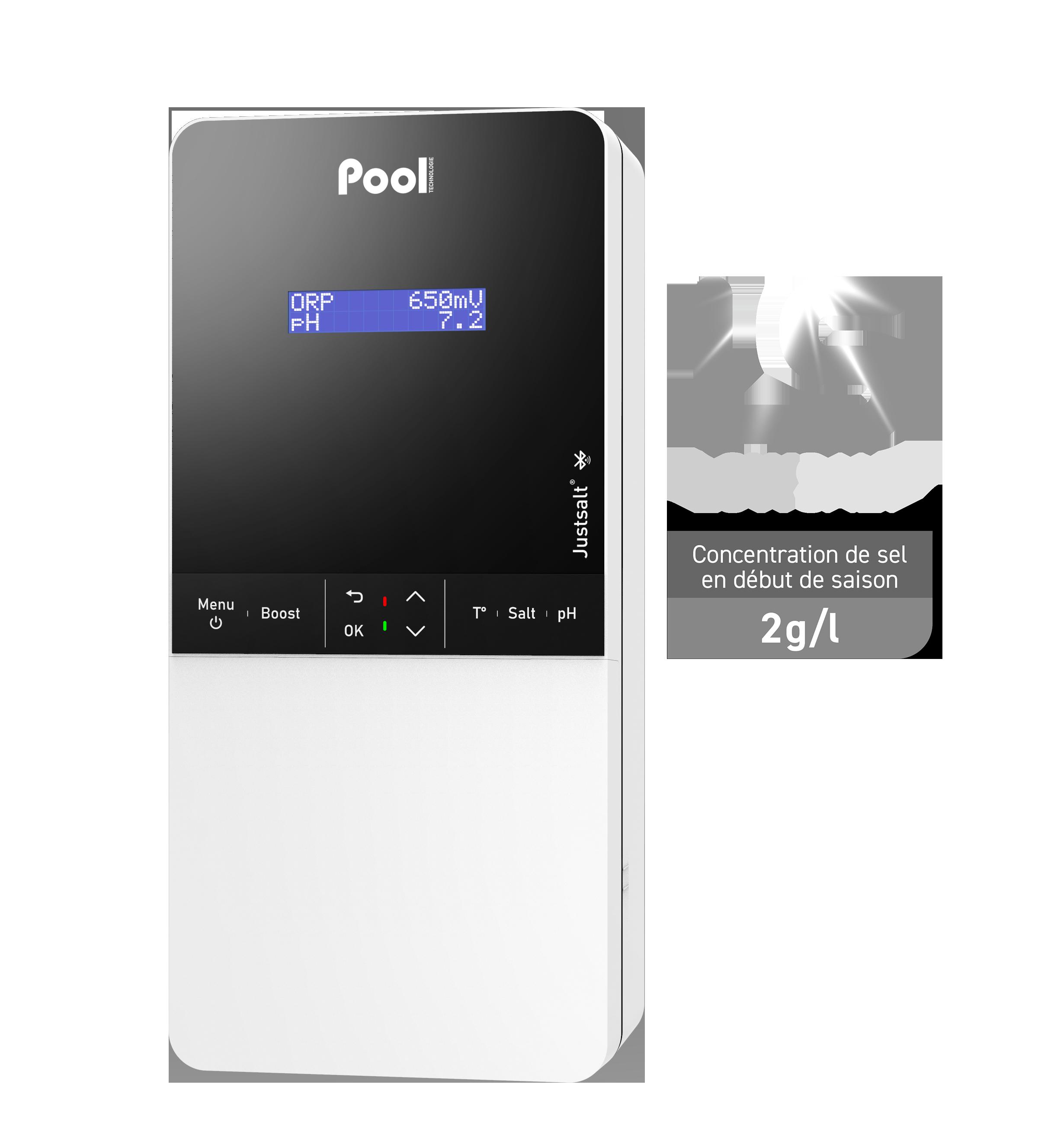 Justsalt Pro Low Salt régulateur pH électrolyseur de sel contrôle ORP