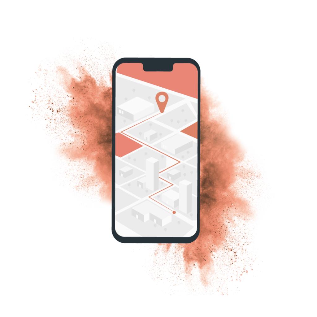 """Carte """"Trouver un revendeur"""" sur mobile"""