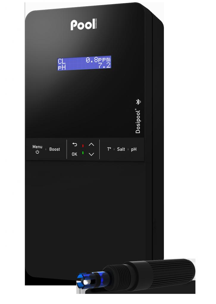 pH regulator chlorine dosage amperometric regulator Dosipool Ampéro pH probe Black